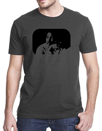 MLK Martin Luther King Jr. T-Shirt, 2XL, Charcoal Gray