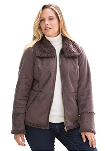 Jessica-London-Plus-Size-Faux-Shearling-Coat