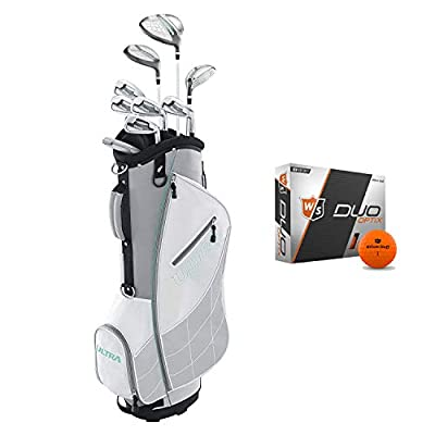 Wilson Ultra Womens Right Handed Complete Golf Club Set with Cart Bag & Balls