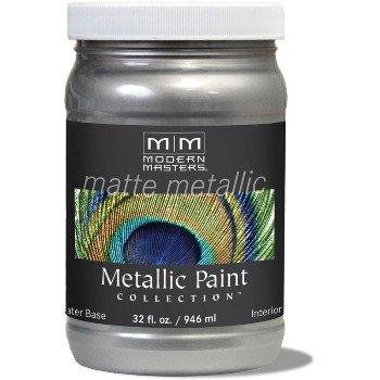 Matte Metallic Paint ~ Platinum, Quart