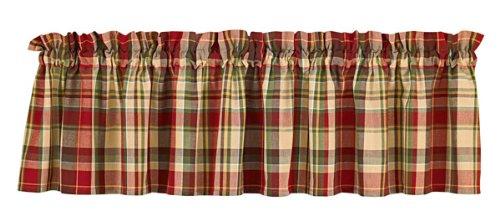Curtains Ideas brown valance curtains : Amazon.com: Highland Ridge Window Valance Café Curtain Red Cream ...