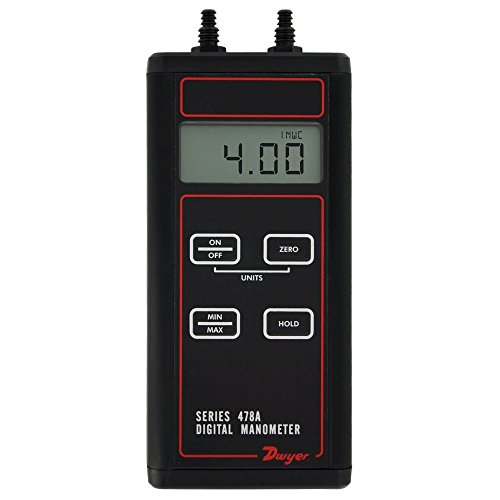 Dwyer Series 478A Differential Pressure Digital Manometer, -4.00 to 4.00