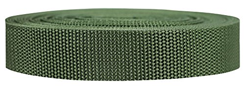 (Strapworks Heavyweight Polypropylene Webbing - Heavy Duty Poly Strapping for Outdoor DIY Gear Repair, 1 Inch x 10 Yards - Olive)