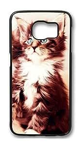 Brian114 Case, S6 Case, Samsung Galaxy S6 Case Cover, Cat 28 Retro Protective Hard PC Back Case for S6 ( Black ) hjbrhga1544