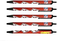 NFL 5-Pack Retractable Click Pens- Great Stocking Suffers and Party Favors