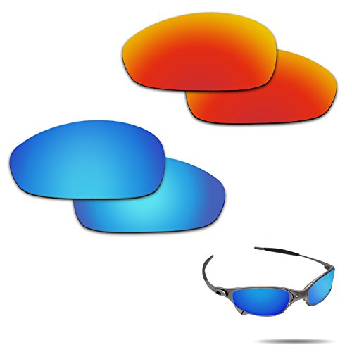 Fiskr Anti-saltwater Polarized Replacement Lenses for Oakley Juliet 2 Pairs Pack