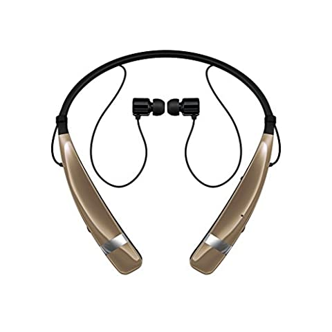 LG Electronics Tone Pro HBS-760 Bluetooth Wireless Stereo Headset - Retail Packaging - Gold (Lg Bluetooth Headset Tone Pro)