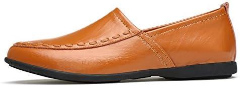 You Are Fashion メンズ本革モカシンスエードインソールファッションスリップオンカジュアルメンズローファー高品質金属装飾アップリケ本物の本革の靴男フラットシューズ (Color : Light Brown Breathable Style, サイズ : 23.5 CM)