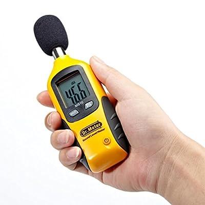 Dr.meter Digital Decibel Sound Level Meter Tester, Measurement Range 30-130 dBA, Accuracy 1.5dB