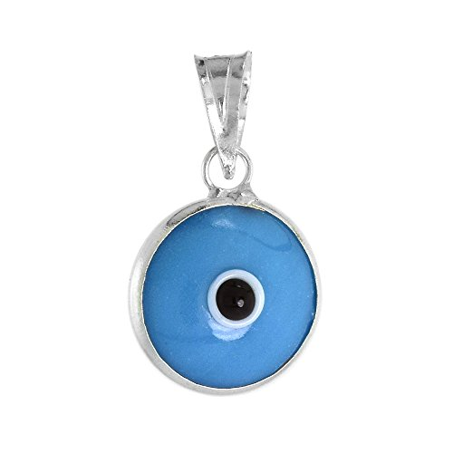 (Sterling Silver Evil Eye Pendant Turquoise Color)