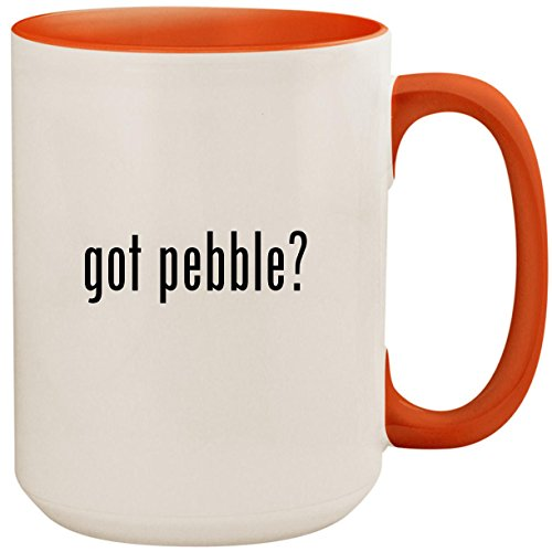 got pebble? - 15oz Ceramic Colored Inside and Handle Coffee Mug Cup, Orange -