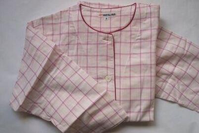 オーガニック衿なしパジャマレギュラーセット (L, ピンク(女性用)) B00YK44KJO L|ピンク(女性用) ピンク(女性用) L