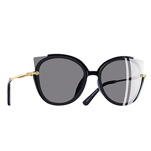 de gato sol Dama de Gafas único Moda ojo TIANLIANG04 de C1gris sol Fotograma UV400 gafas Mujer C3Silver polarizadas vPgnq6