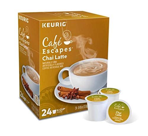 Keurig Tea and Ice Tea Pods K-Cups 18/22 / 24 Count Capsules ALL BRANDS/FLAVORS (Twinings/Chai/Celestial/Lipton/Tazo/Diet Snapple) (24 Pods Chai Latte) -  Globalpixels