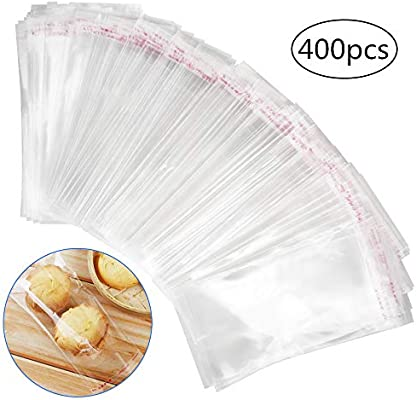 400pcs Bolsas de Celofán (8 * 16cm) Transparentes Plastico ...
