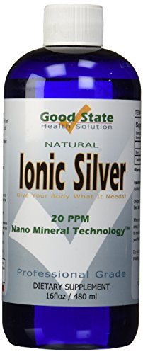 Good State Liquid Ionic Silver Minerals Supplement (96 days at 100mcg)