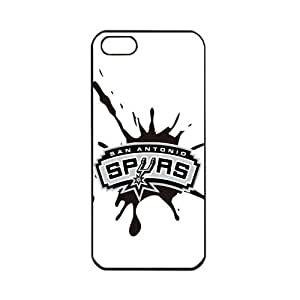 NBA San Antonio Spurs Logo Apple iPhone 5 TPU Soft Black cases for basketball fans Apple iPhone 5 TPU Soft Black or White cases for basketball Spurs fans (Black)