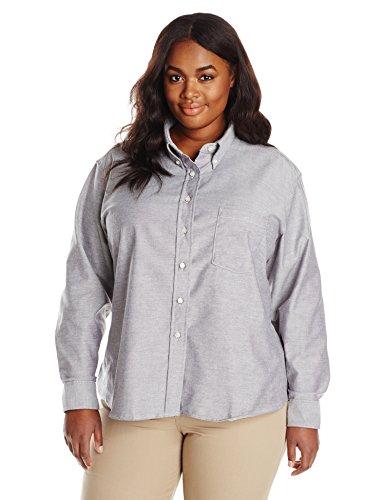 - Red Kap Women's Plus Size Executive Oxford Dress Shirt, Gray, 24