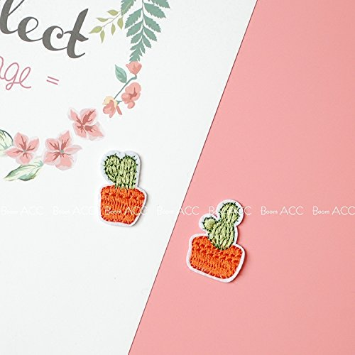 South Korea exquisite embroidery thread potted cactus cloth patch stickers affixed stickers PDA badge brooch accessories