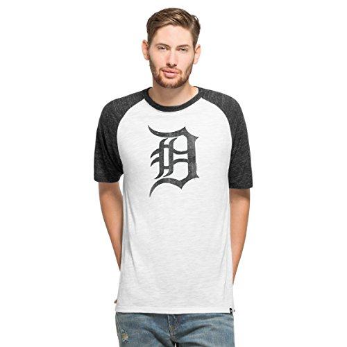 MLB Detroit Tigers Men's '47 Team Tri-State Raglan Tee, X-Large, White Wash