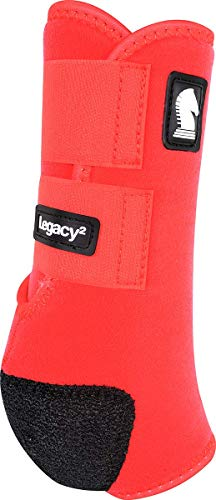 Classic Equine Legacy2 System Front Boot (Solid), Red, Medium ()