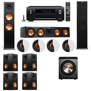 dolby-atmos-714-klipsch-rp-280f-tower-speakers-pl-200-with-denon-avr-x4200w