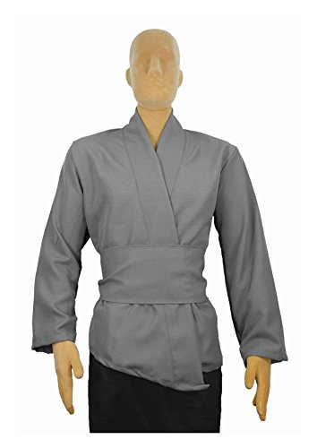 Men's Jedi Sith Tunic Costume Adult (X-Large, Gray) (Dark Jedi Costume)