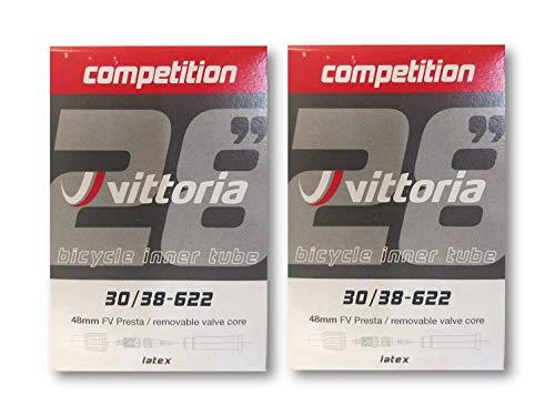 Vittoria Latex Tube 700x30/38 48mm Presta Valve - 2-Pack w/Decal ()