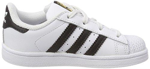 adidas Unisex Baby Superstar Gymnastikschuhe, Weinrot Elfenbein (Ftwr White/core Black/ftwr White)