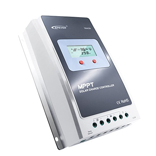 EPever 10a MPPT Charge Controller with LCD Display, 100V Max Input, 12V/24V Auto Switch