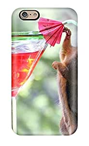 AmandaMichaelFazio Premium Protective Hard Case For Iphone 6- Nice Design - Drinking Cocktail Red Drink Alcoholic Squirrel Animal Other