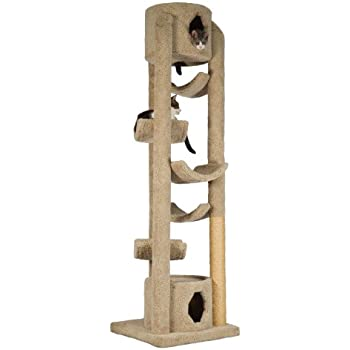 """Molly and Friends """"Pinnacle"""" Extra-Large Premium Handmade Cat Tree with Sisal, Beige"""