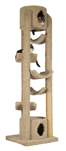"Molly and Friends ""Pinnacle Extra-Large Premium Handmade Cat Tree with Sisal, Beige"