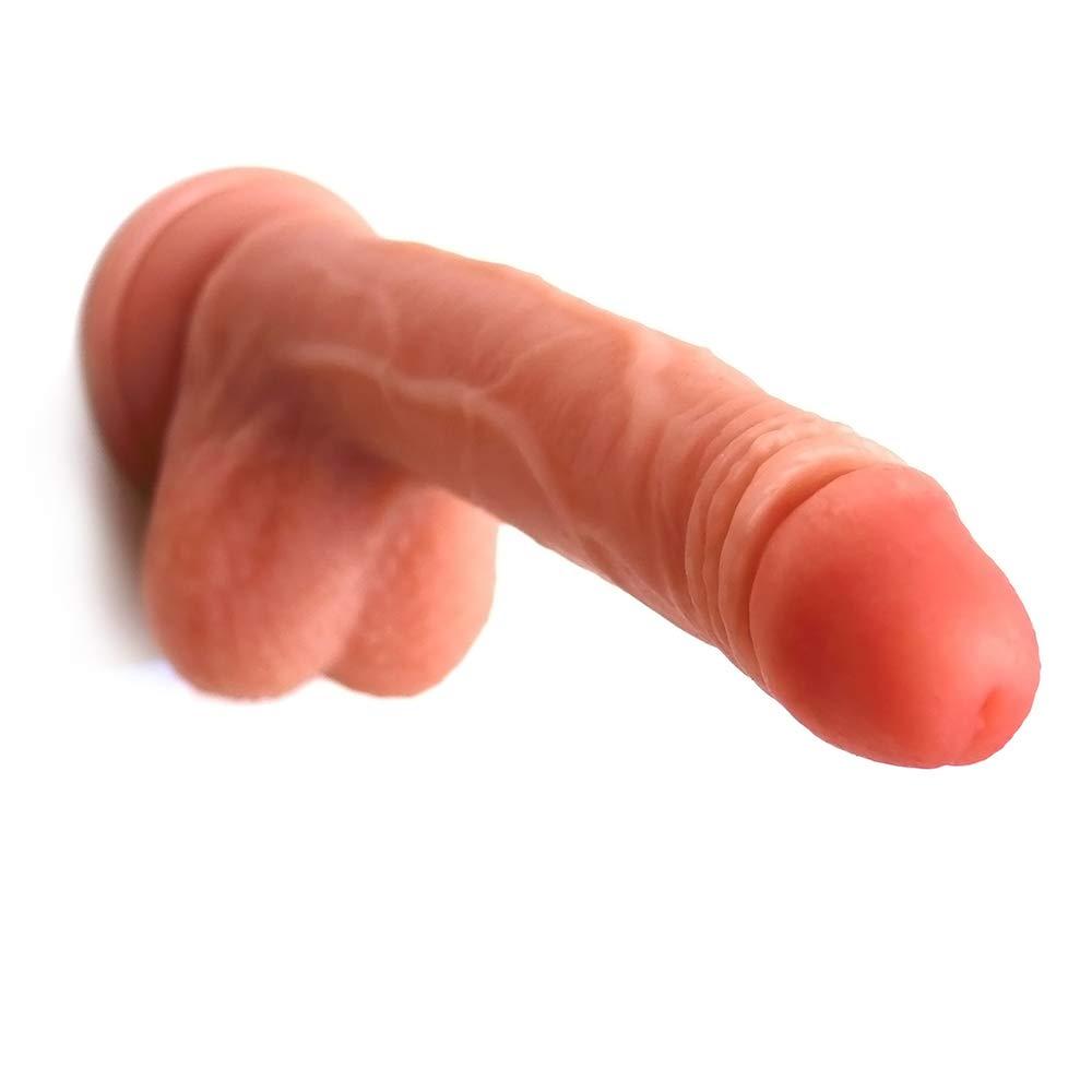 lcc Masculino Doble Líquido Silicona Masculino Pene Genital Falso Pene Mujer Masturbación Simulación Pene Masculino Manual Silicona Pene, Color De Carne, Marrón (Entrega Privada),Flesh e96d98