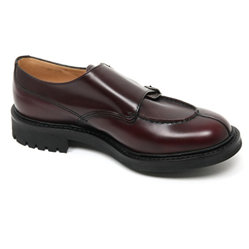 B9134 scarpa uomo CHURCHS NEWBY scarpe bordeaux scuro FIT G shoe man Bordeaux scuro