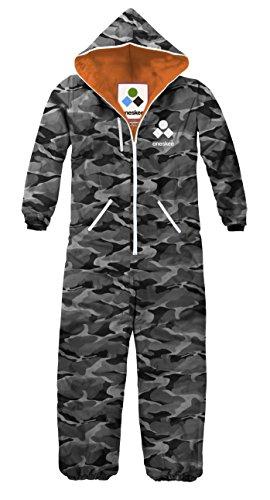 Oneskee Damen Mark II's - Grau Camo M Einteilige Ski-Anzüge snowboarding Bekleidung