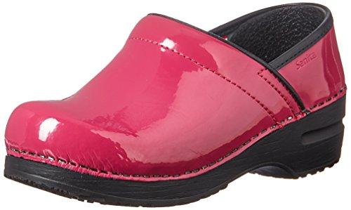 Sanita Women's Professional Patent Clog,Pink,39 Medium EU (8-8.5 US) ()