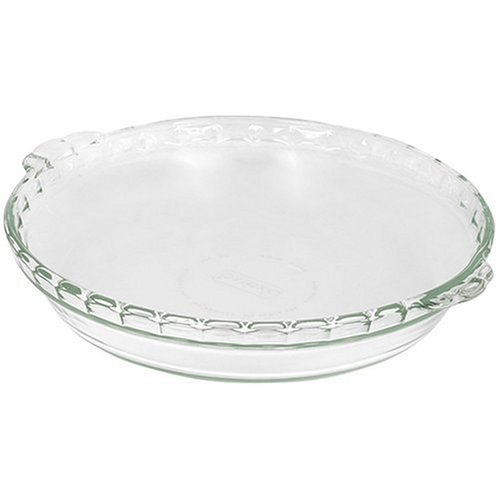 Pyrex Bakeware 9-1/2-Inch Scalloped Pie Plate, - Dish Pie Glass Pyrex