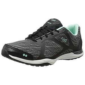 RYKA Women's Grafik Cross-Training Shoe, Black/Grey/Mint, 7.5 M US