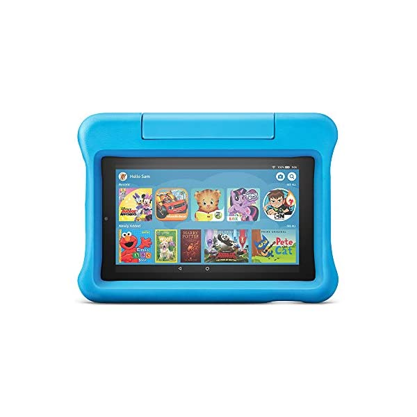 """Fire 7 Kids Tablet, 7"""" Display, ages 3-7, 16 GB, Blue Kid-Proof Case 1"""