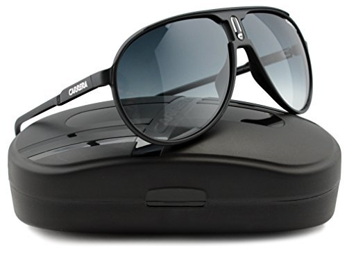 Carrera Champion Sunglasses Matte Black w/Gray Gradient (0DL5) DL5 JJ 62mm - Authentic Sunglasses Carrera