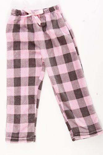 Just Love Plush Pajama Pants for Girls, Pink / Charcoal, Girls' 10-12