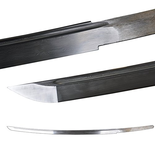 - Folded Steel 2048 layers Naked Replacement Blade For Japanese Samurai Katana Swords