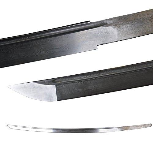 Folded Steel 2048 Layers Naked Replacement Blade for Japanese Samurai Katana Swords
