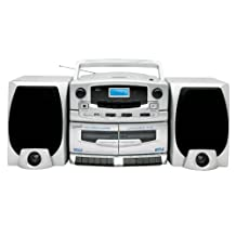 SUPERSONIC SC-2020U Portable MP3-CD Player with Cassette Recorder, AM-FM Radio & USB Input
