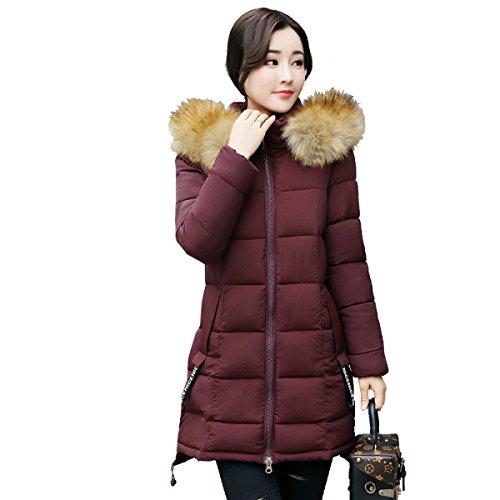 Down Down nihiug Cotton Student Female Eiderdown Long Section Coat Outwear Winter Loose Jacket Coat C Thickened qqUIw