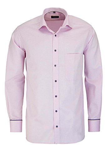 Eterna Long Sleeve Shirt Comfort Fit Fancy Weave Structured