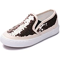 iDuoDuo Girl's Cute Sequins Low Top Casual Loafers Princess Party Sneakers (Toddler/Little Kid/Big Kid)