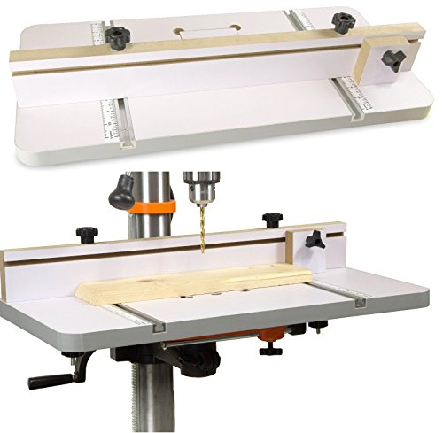 TOP Satisfied DPA2412 24-by-12 Drill Press Table w/Adjustable Fence & Stop Block Fast Delivery