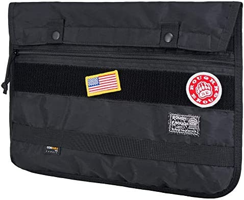 Rough Enough 13 14 Inch Laptop Bag Case Sleeve for Women Men EDC Bag Organizer Molle Pouch Laptop Computer Accessories Protective Case Large Document Bag for Women Men College Students Business Black